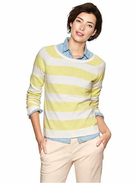 Space-dye stripe sweater