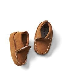 Suede slip-on booties