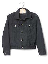 Veste en denim 1969 fini noirâtre