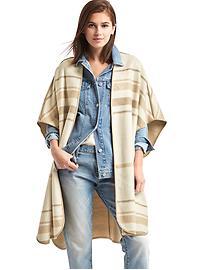 Cape de style couverture à rayures