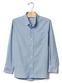 Non-iron solid poplin shirt