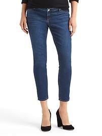 Maternity inset panel true skinny ankle jeans
