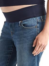 Maternity demi panel real straight jeans