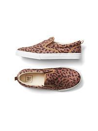 Leopard slip-on sneakers