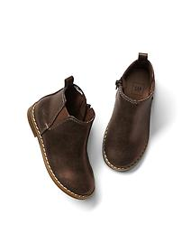 Metallic chelsea booties
