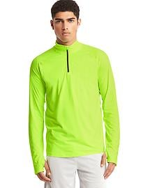 Brushed tech jersey half-zip pullover
