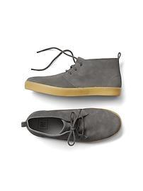 Suede mid-top sneakers