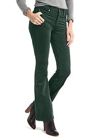 Stretch corduroy baby boot pants