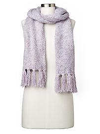 Marled fringe scarf