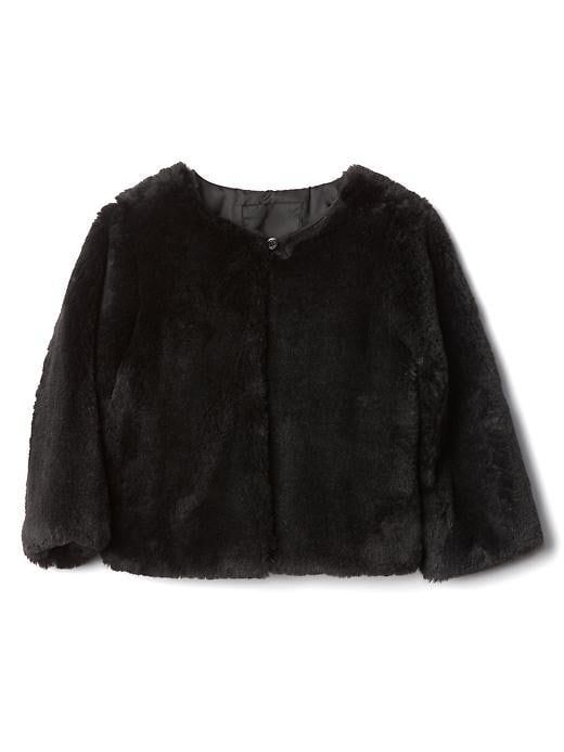 Gap Faux Fur Bolero - True black