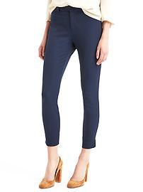 Bi-stretch skinny ankle crop pants
