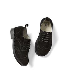 Suede wingtip oxfords