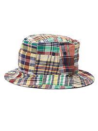 Chapeau patchwork à madras