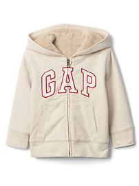 Cozy logo zip hoodie