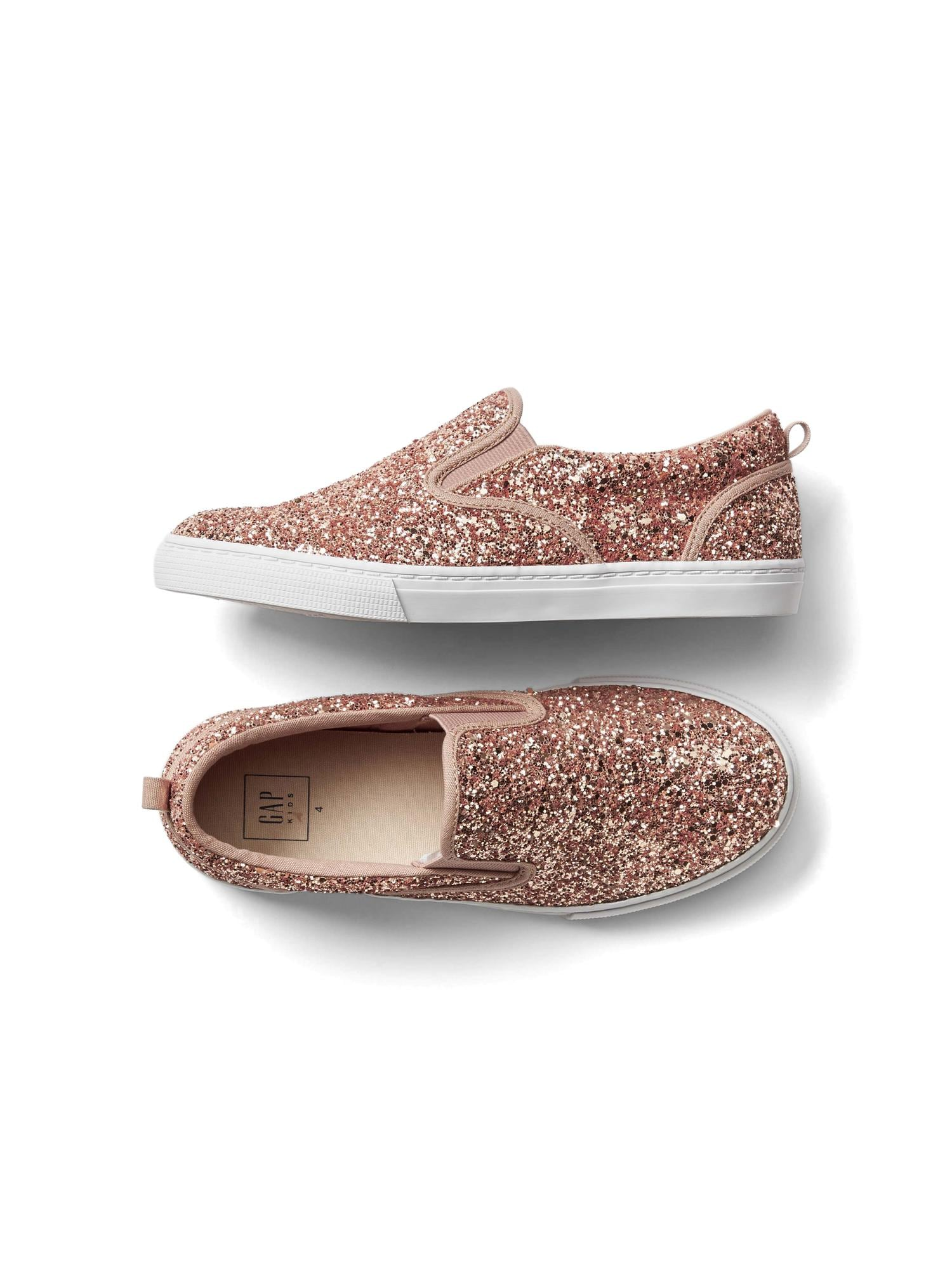 ea4c7a77dc68 Kids Glitter Slip-On Sneakers | Gap