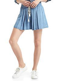 TENCEL&#153 high rise pleat shorts