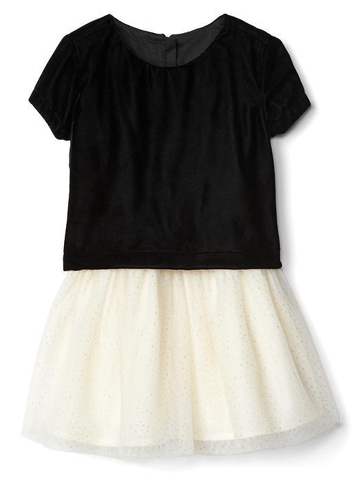 Gap Velvet Layer Tutu Dress - True black