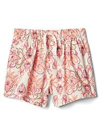 Floral poplin shorts