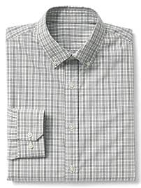 Stretch Poplin plaid standard fit shirt