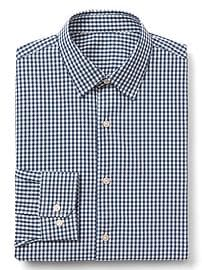 Supima cotton gingham standard fit shirt