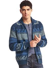 Cowichan zip cardigan