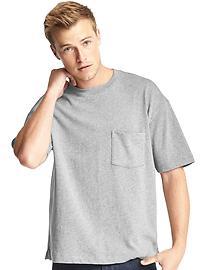 T-shirt à poche ras du cou épais
