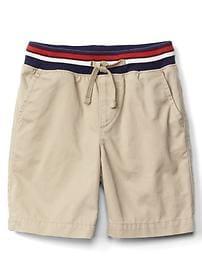 Pull-on chino shorts
