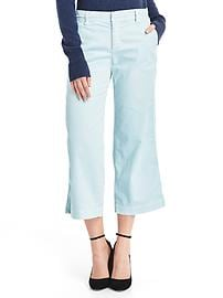 Wide-leg crop chinos
