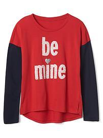 T-short ornementé «Be mine»