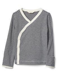 Organic stripe kimono top
