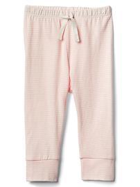 Pantalon à bande en coton biologique rayé