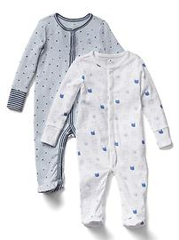 Favorite bear footed one-piece (2-pack)