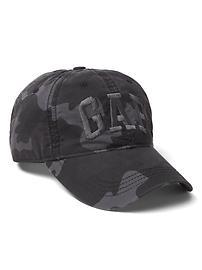 Logo camo baseball hat