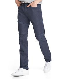 Technical slim cyclist jeans