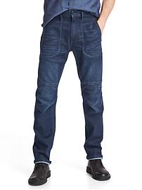 Technical slim utility jeans