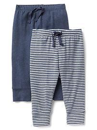 Pantalon tricoté à rayures (paquet de deux)