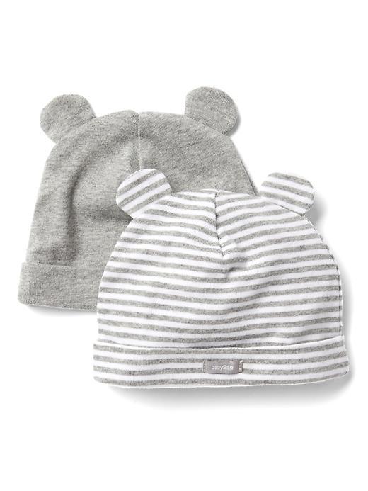Favorite Stripe Bear Hat (2 Pack) by Gap
