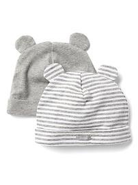 Favorite stripe knit bear hat (2-pack)