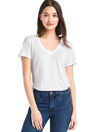 T-shirt col enV en lin