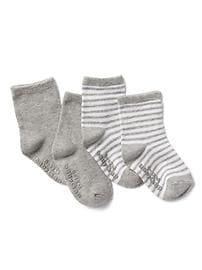 Chaussettes rayées (paquet de deux)