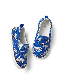 Dino fossils slip-on sneakers