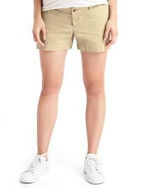 Maternity inset panel twill summer shorts