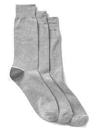 Solid crew socks (3-pack)