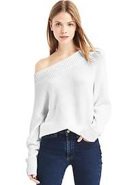 Relaxed open-neck sweater
