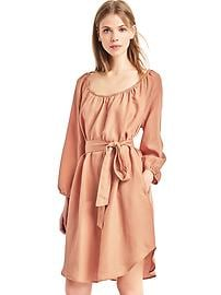 TENCEL&#153 shirred boatneck dress