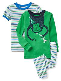 Pyjama à motifs de singe et trompette (paquet de3)