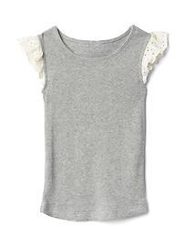 T-shirtà manches crochetées