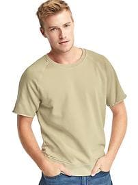 Terry short sleeve pullover