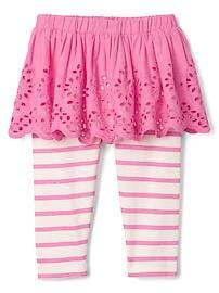 Duo legging et jupe à oeillets