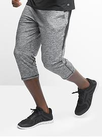 GapFit brushed tech jersey crop pants
